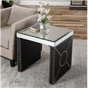 Uttermost Accent Furniture Lucero Mirrored End Table