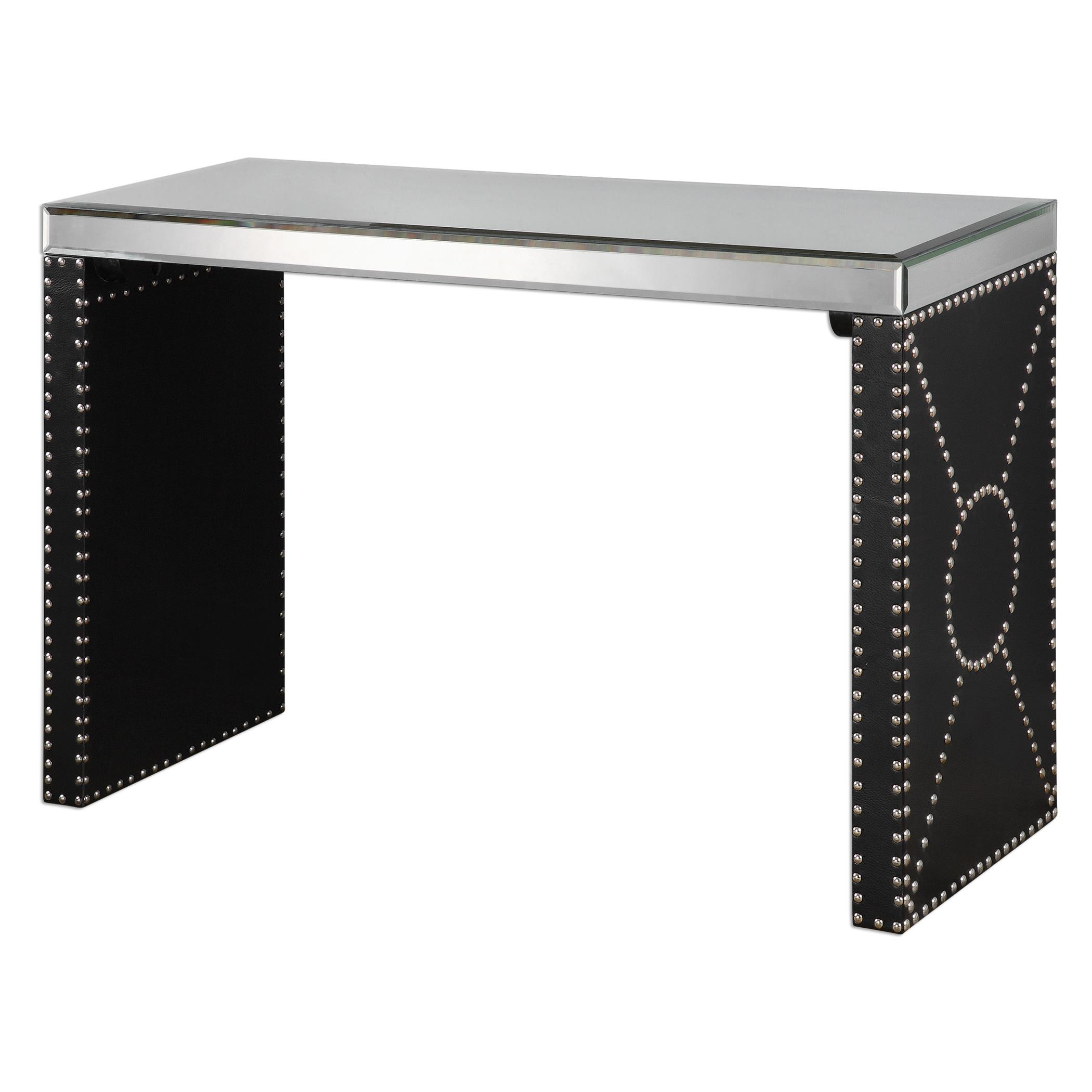 Uttermost Accent Furniture Lucero Mirrored Sofa Table - Item Number: 24530