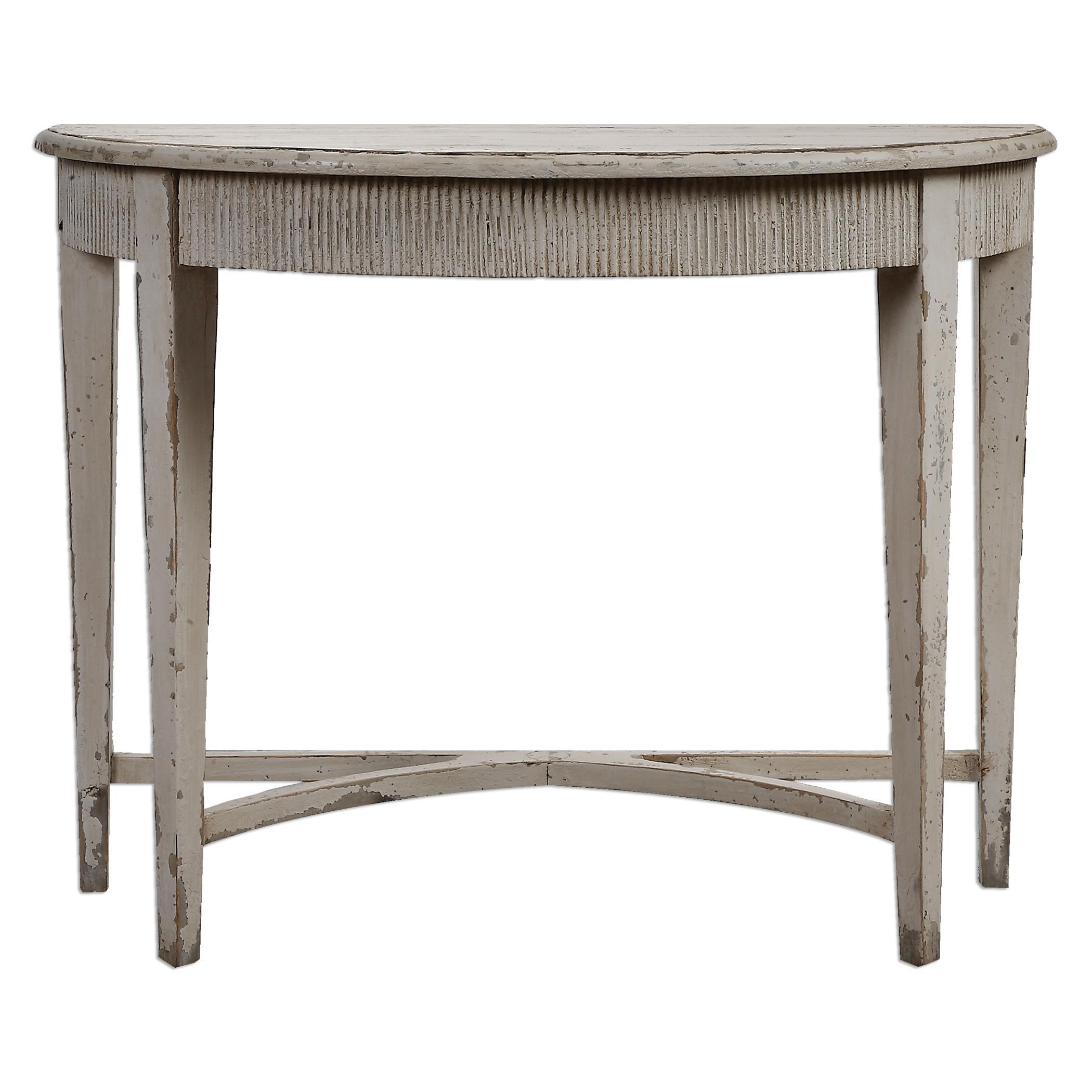 Uttermost Accent Furniture Parisio Demilune Console Table - Item Number: 24535