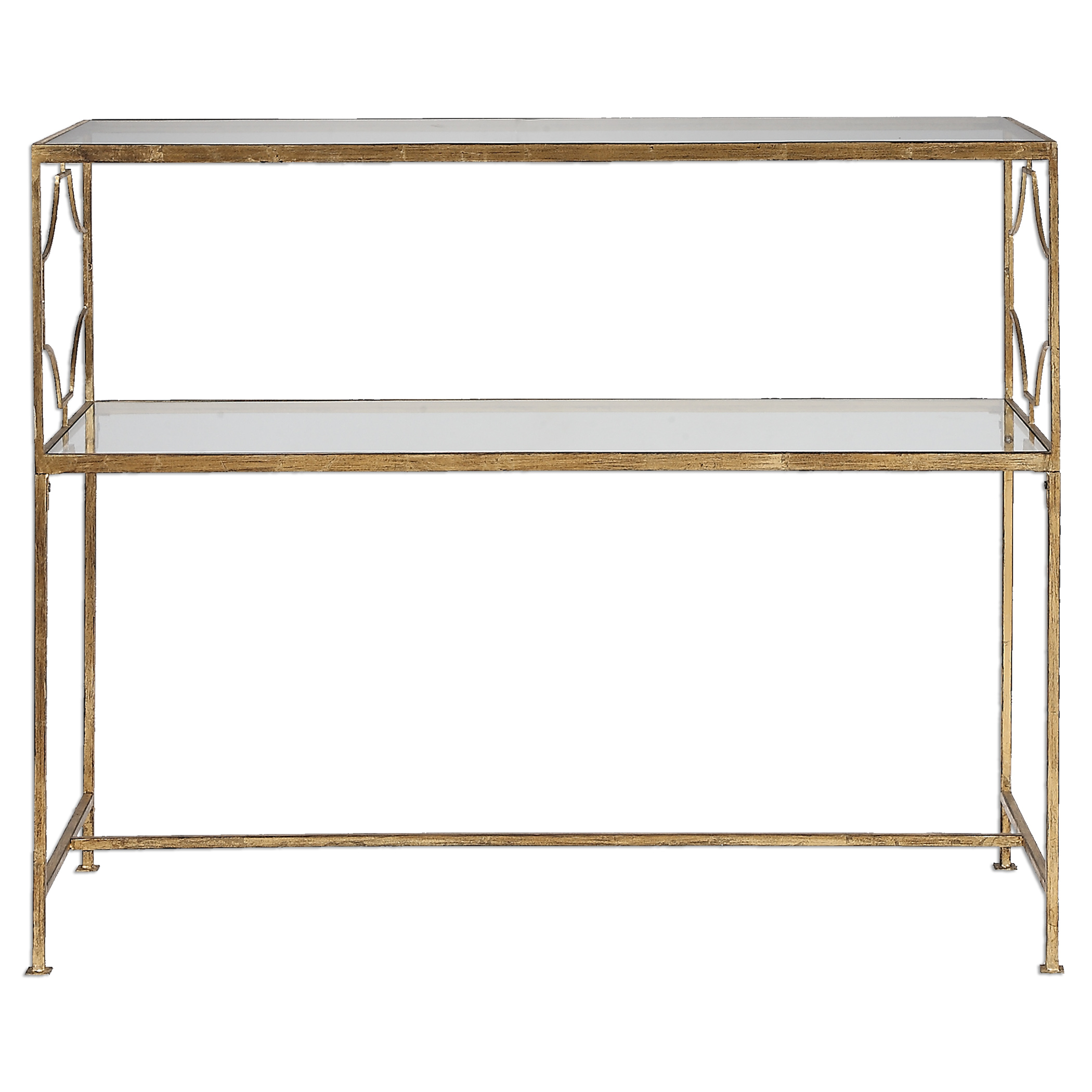 Uttermost Accent Furniture Genell Gold Iron Console Table - Item Number: 24539