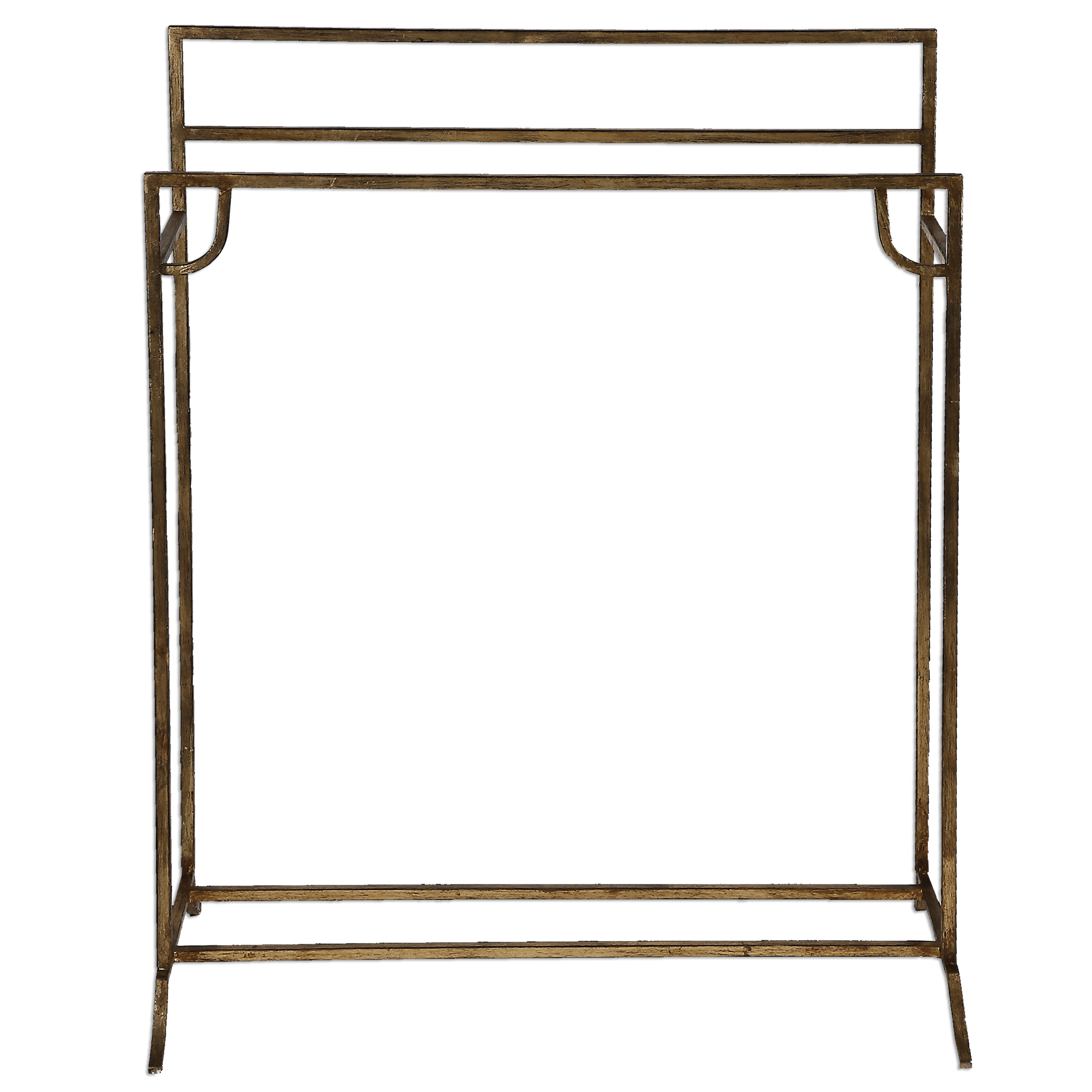 Uttermost Accent Furniture Perico Gold Towel Stand - Item Number: 24544
