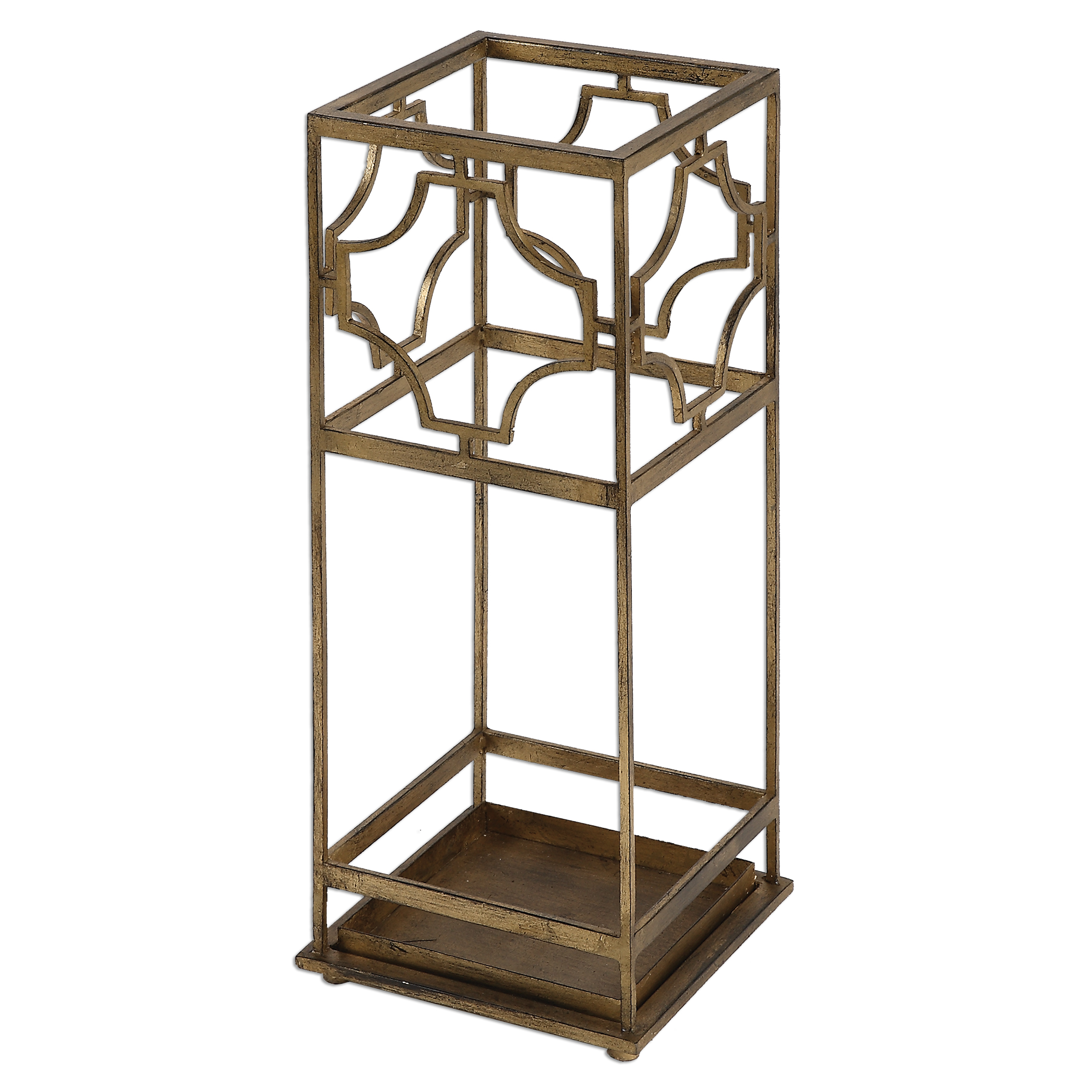 Uttermost Accent Furniture Genell Gold Iron Umbrella Stand - Item Number: 24553