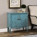Uttermost Accent Furniture  Meka Aged Blue Accent Chest