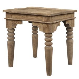 Uttermost Accent Furniture Khristian Reclaimed Wood End Table