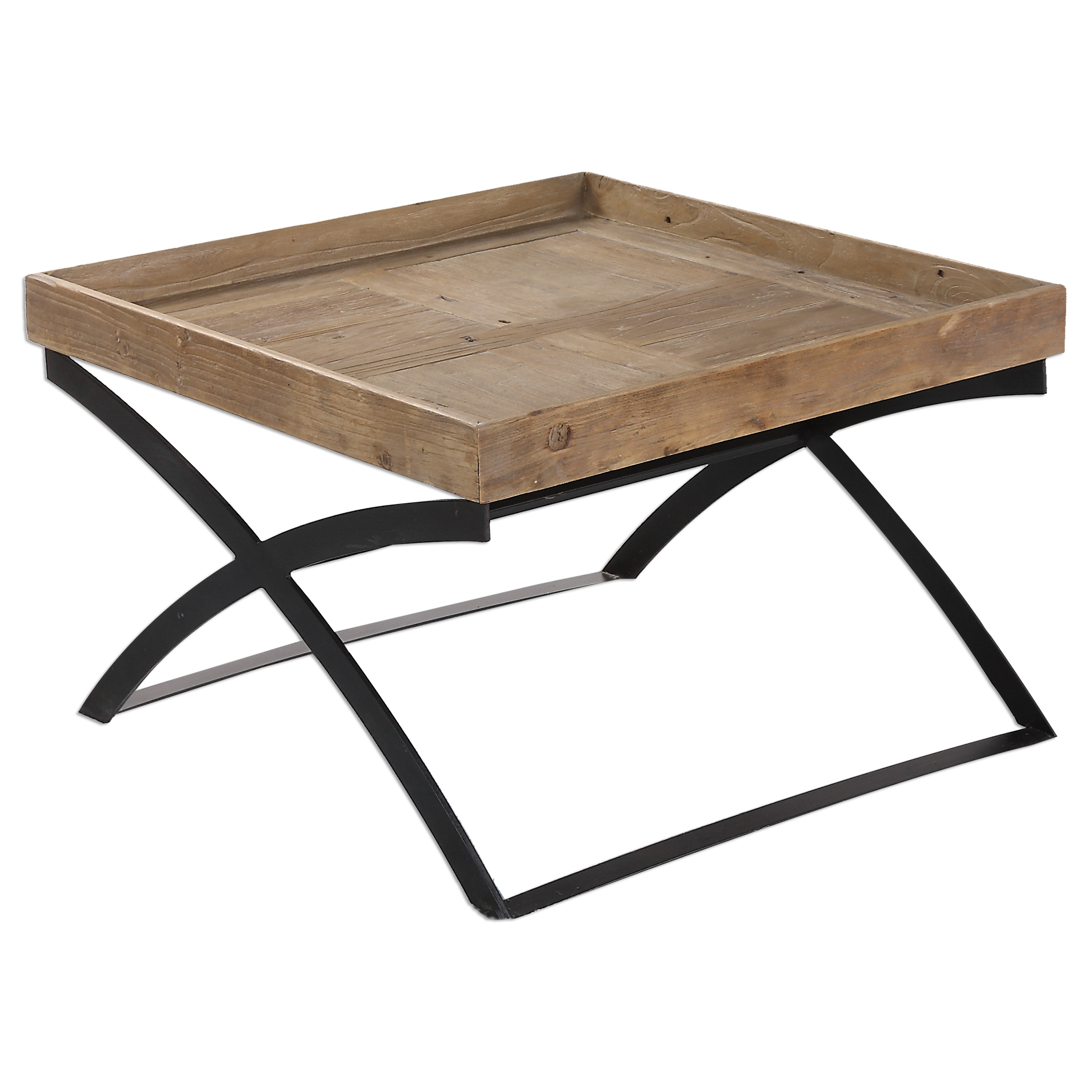 Uttermost Accent Furniture Ferox Elm Tray Coffee Table - Item Number: 24574