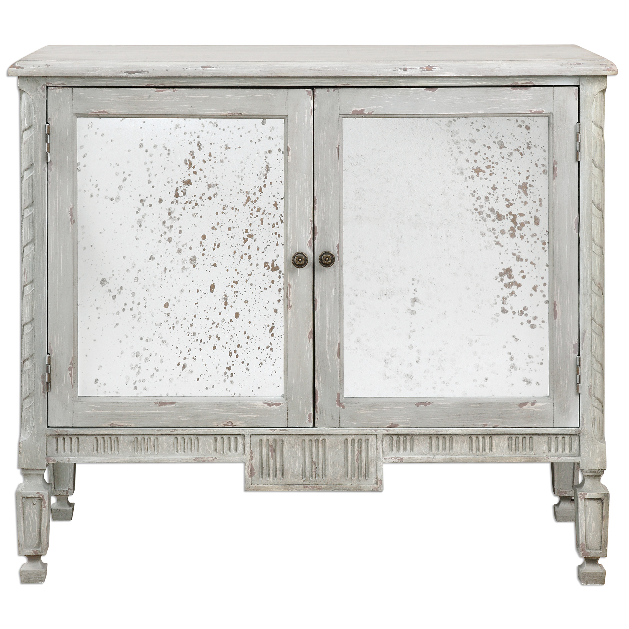 Accent Furniture - Chests Okorie Gray Console Cabinet by Uttermost at Reid's Furniture