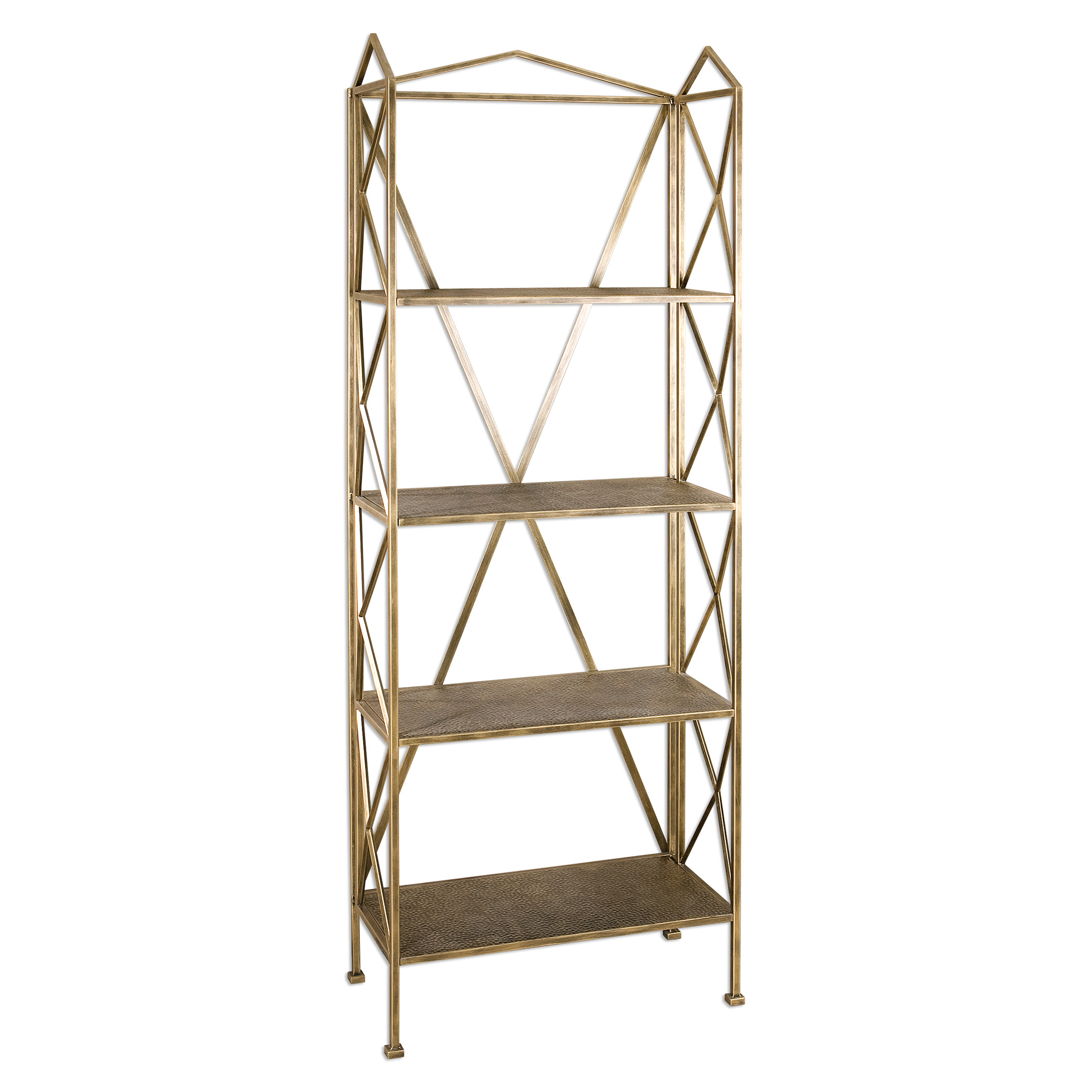 Uttermost Accent Furniture Yulia Antique Gold Etagere - Item Number: 24587