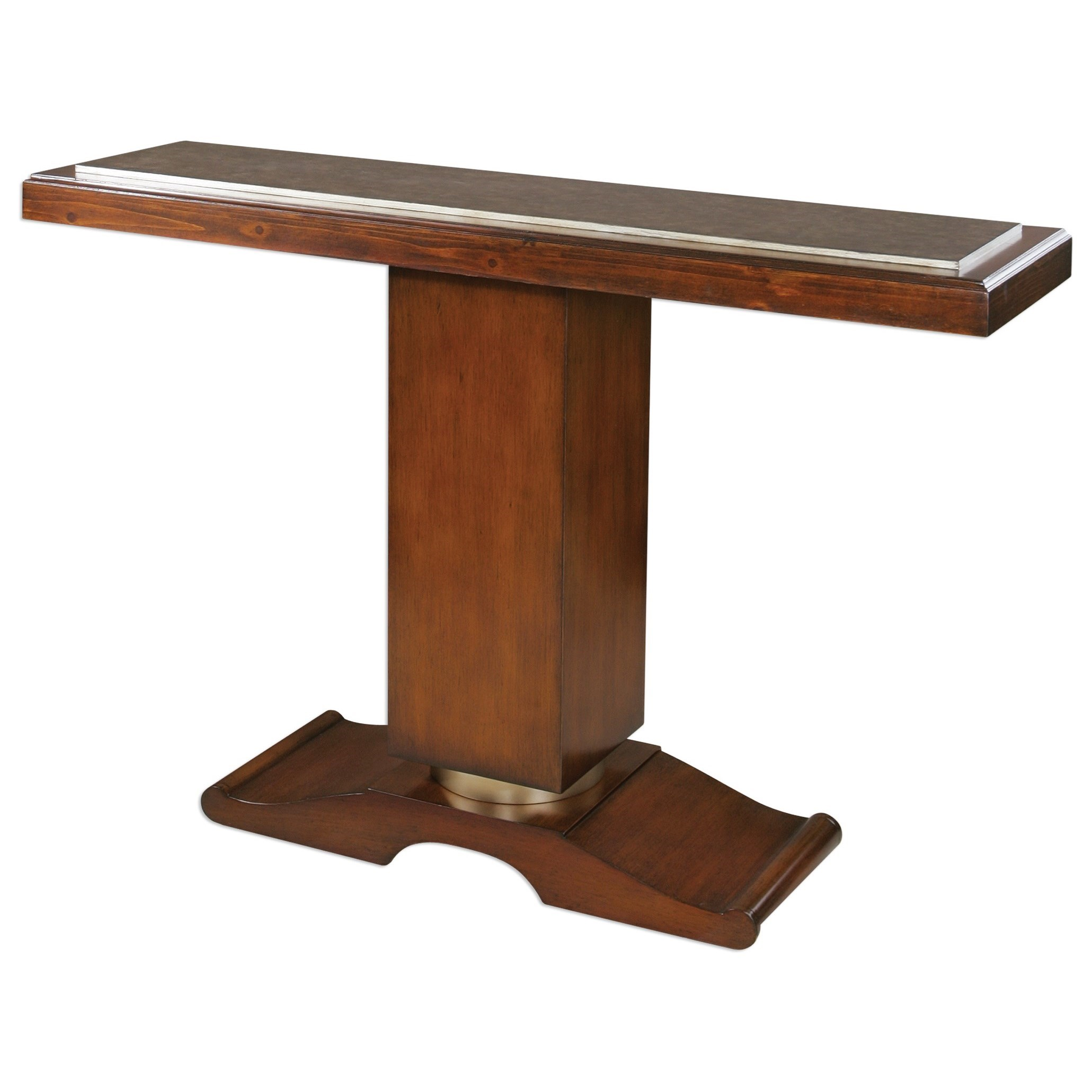 Uttermost Accent Furniture Taniel Pedestal Console Table - Item Number: 24588