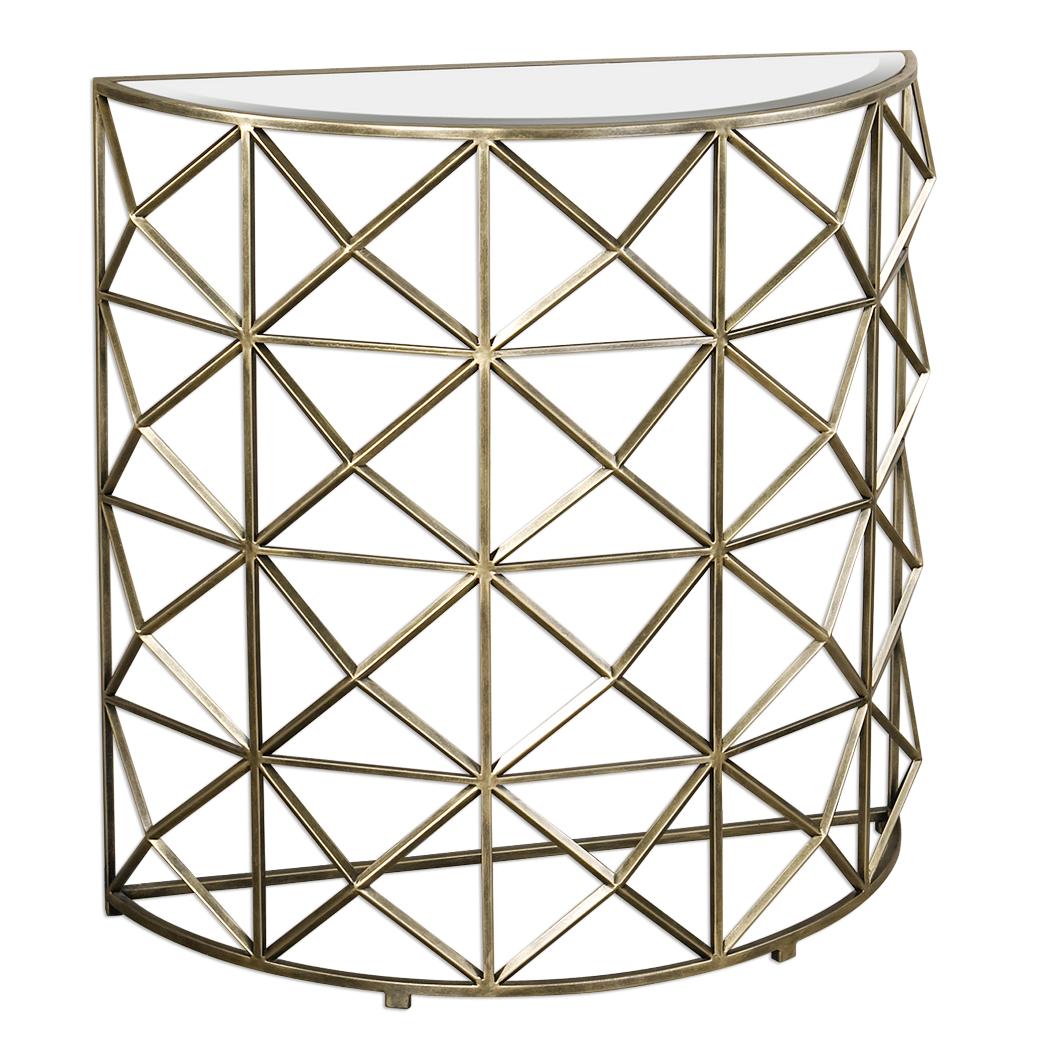 Uttermost Accent Furniture Yulia Gold Console Table - Item Number: 24591