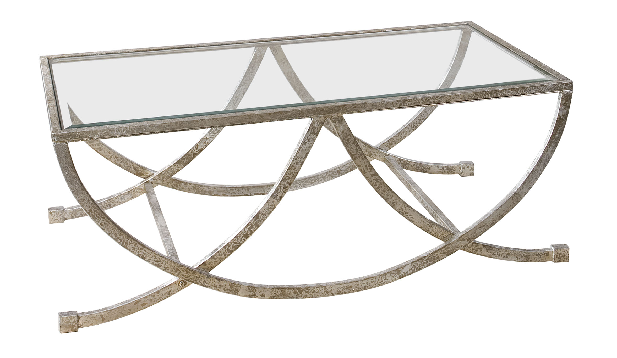 Uttermost Accent Furniture Marta Antiqued Silver Coffee Table - Item Number: 24593