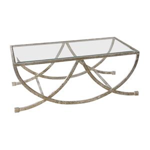 Uttermost Accent Furniture Marta Antiqued Silver Coffee Table