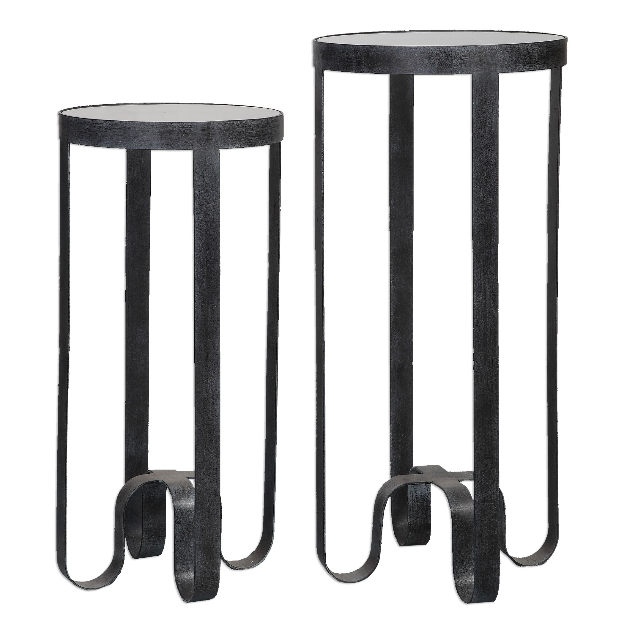 Uttermost Accent Furniture Arusi Strapped Iron Accent Tables, S/2 - Item Number: 24598