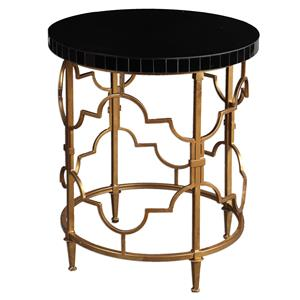 Uttermost Accent Furniture Mosi Gold Black Accent Table