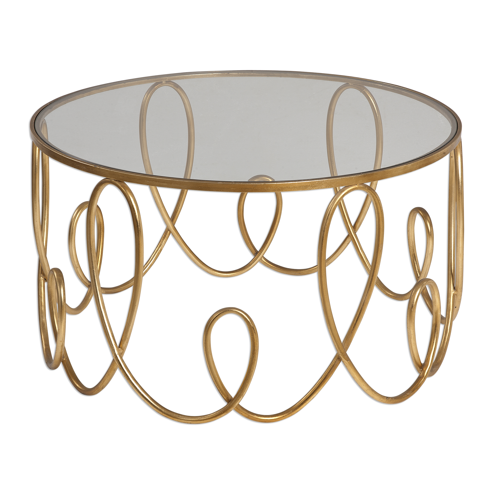 Uttermost Accent Furniture Brielle Gold Coffee Table - Item Number: 24620