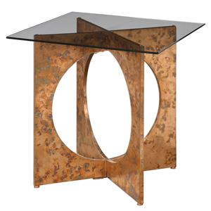 Uttermost Accent Furniture Darry Copper Accent Table