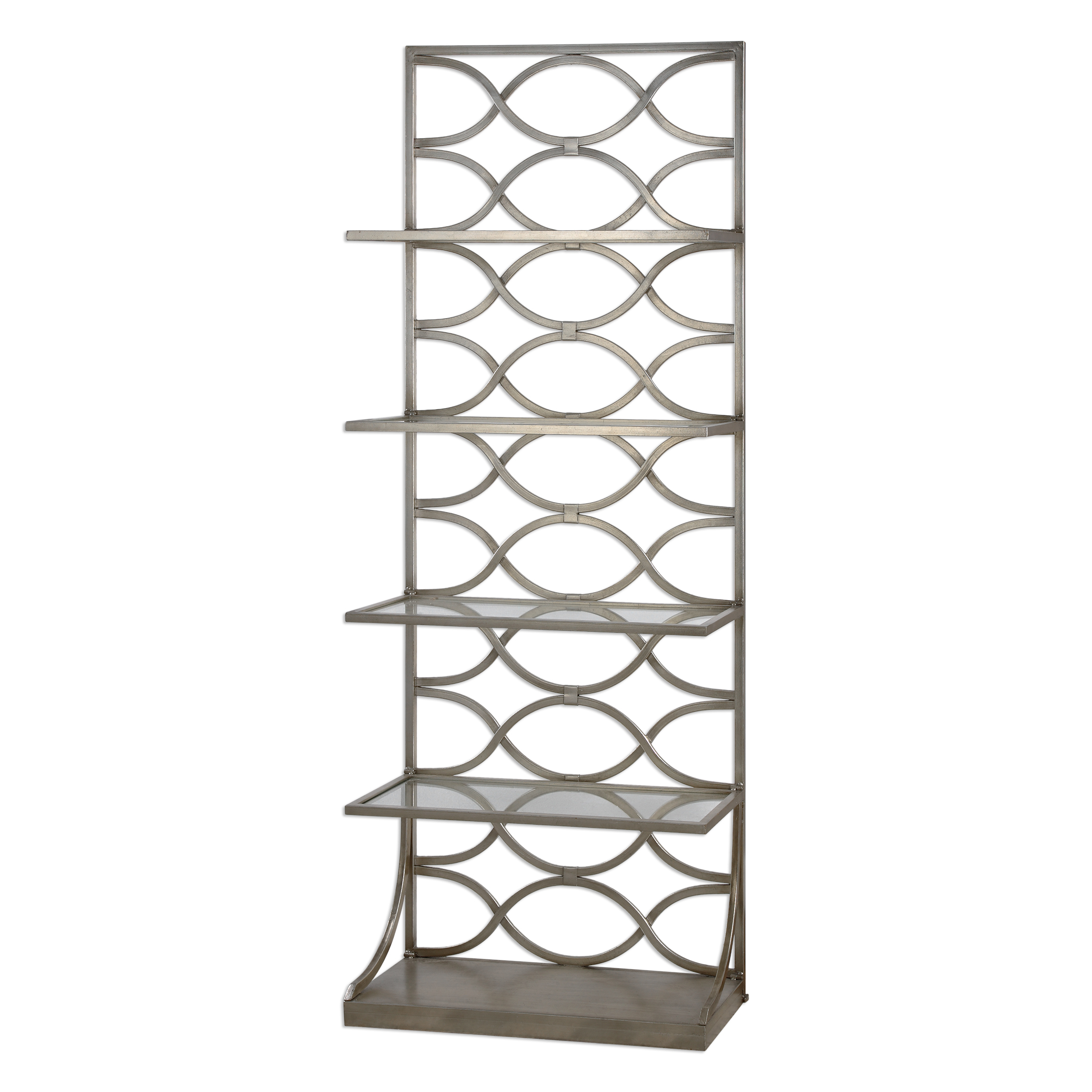 Uttermost Accent Furniture Lashaya Silver Etagere - Item Number: 24622