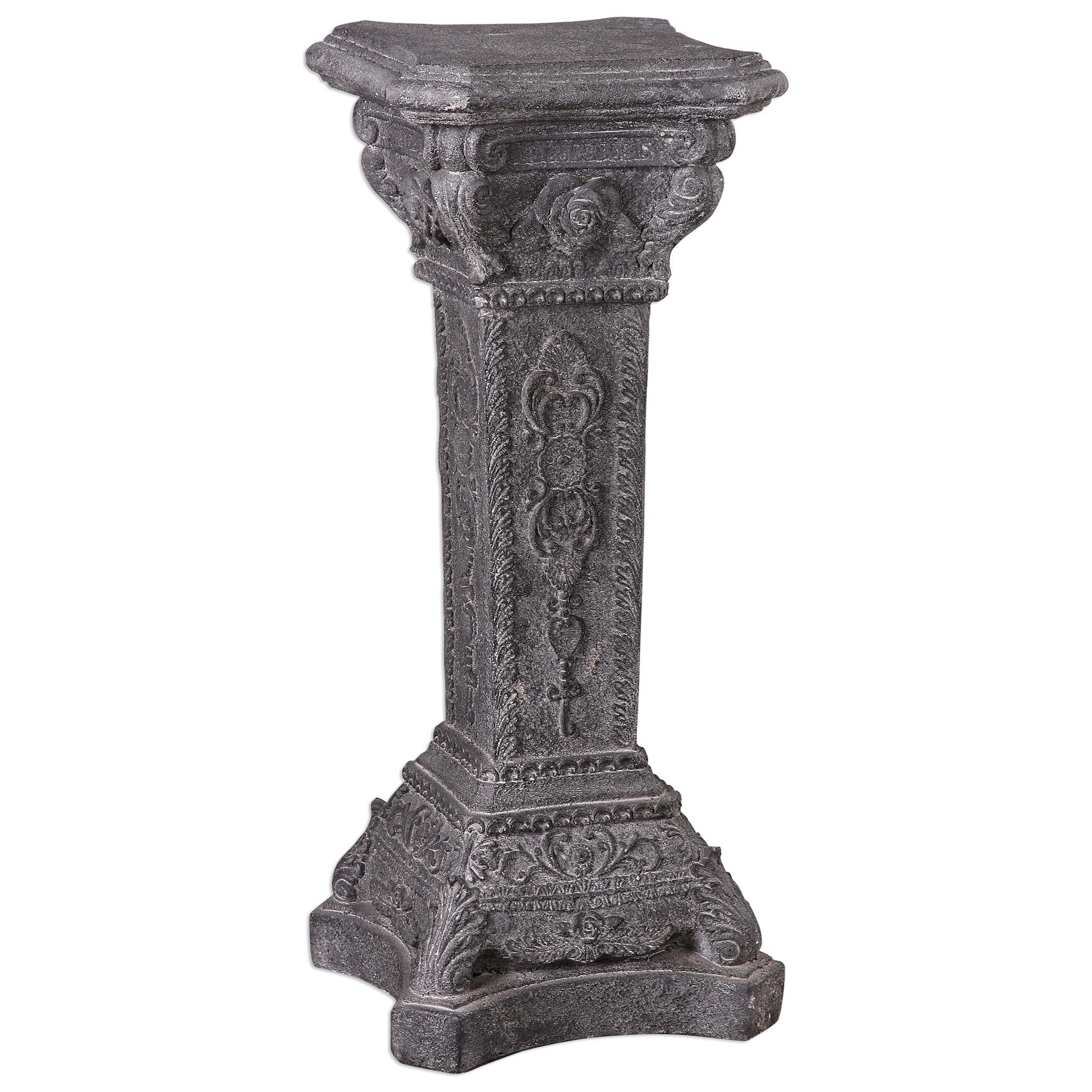 Uttermost Accent Furniture Maurizio Stone Plant Stand - Item Number: 24624