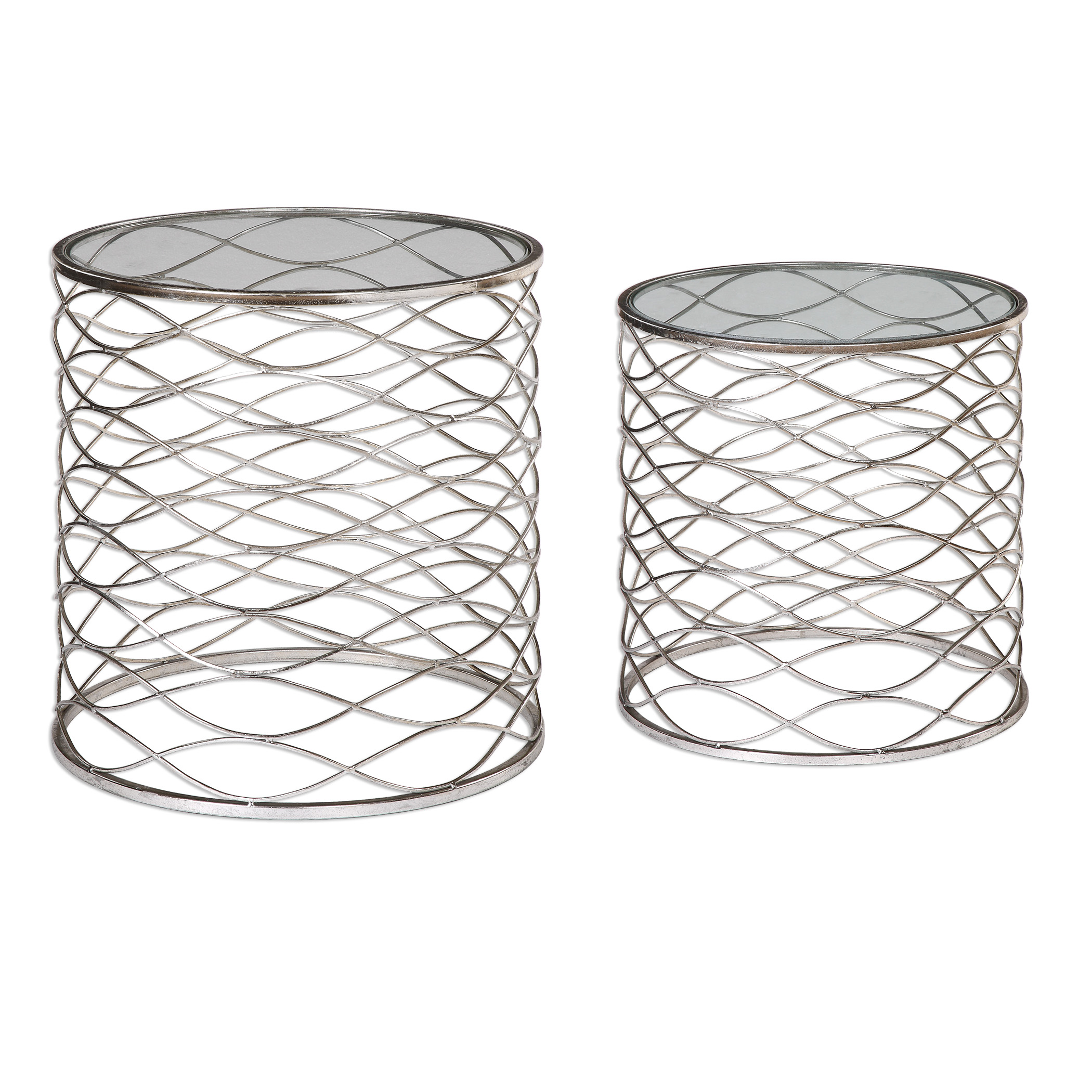 Uttermost Accent Furniture Aida Iron Cage Accent Tables, S/2 - Item Number: 24628