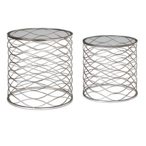 Uttermost Accent Furniture Aida Iron Cage Accent Tables, S/2