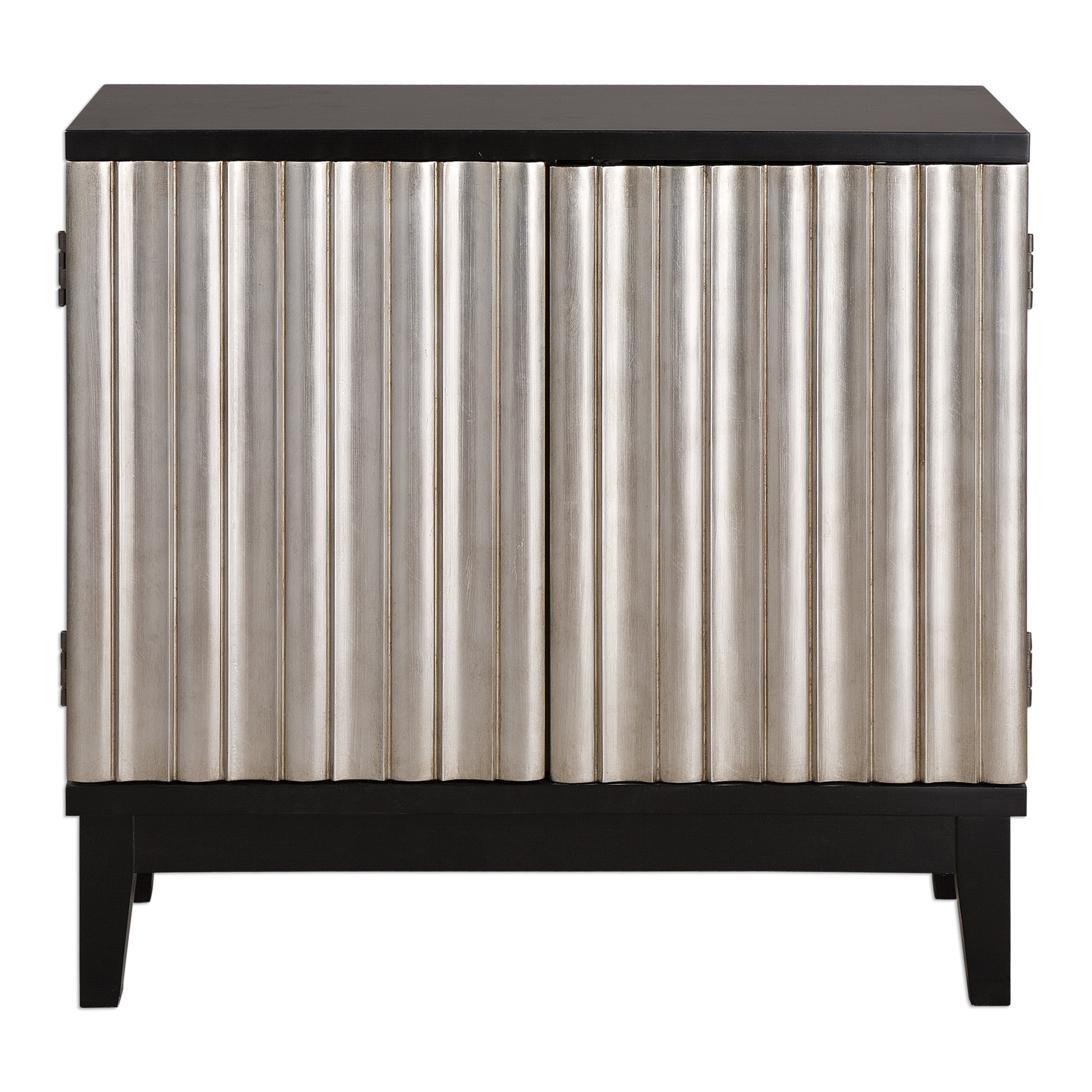 Uttermost Accent Furniture Simona Silver Console Cabinet - Item Number: 24630