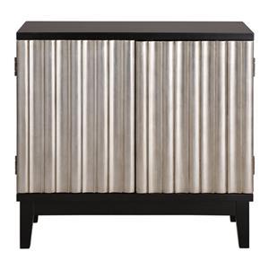 Uttermost Accent Furniture Simona Silver Console Cabinet