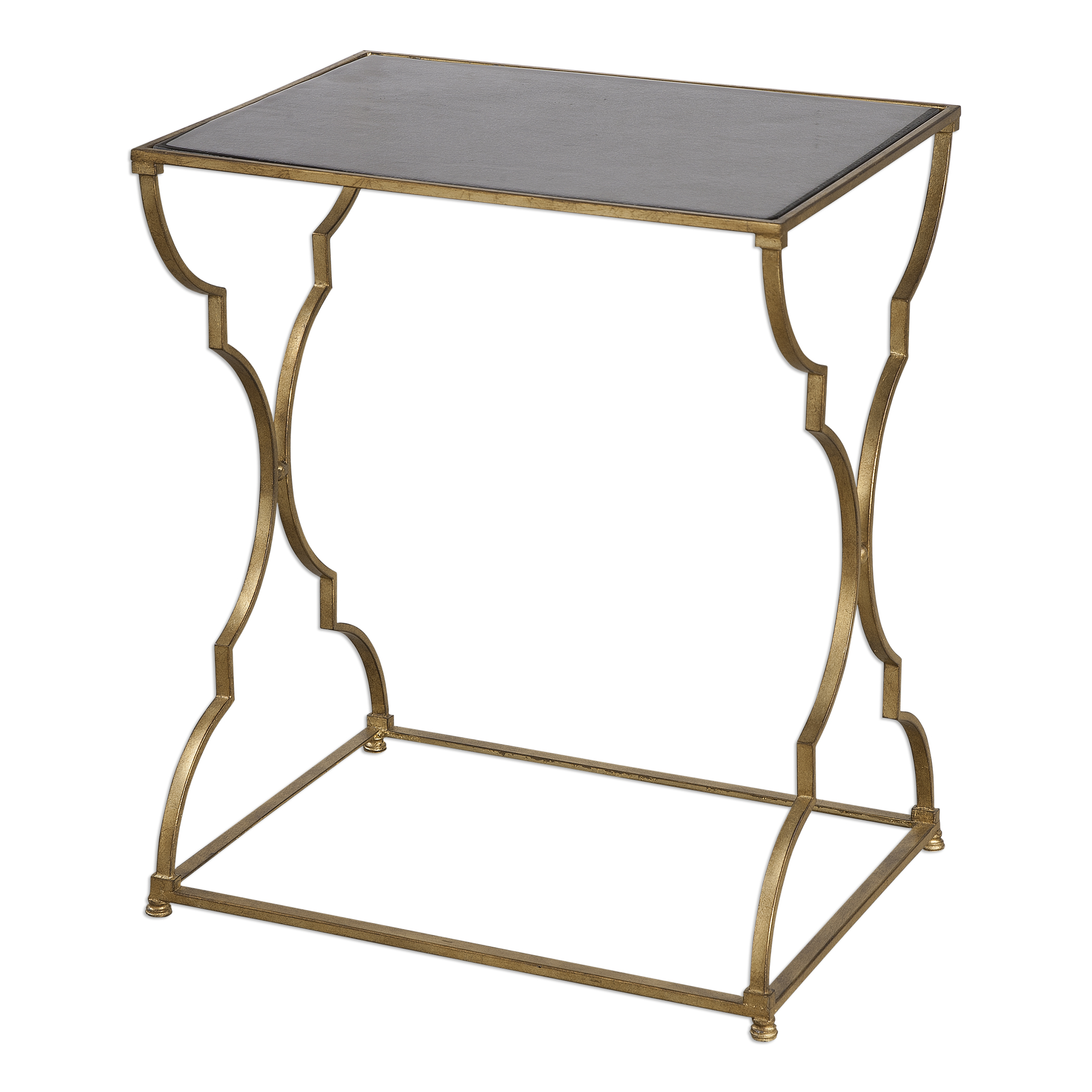 Uttermost Accent Furniture Caitland Antique Gold Accent Table - Item Number: 24632