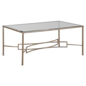Uttermost Accent Furniture Eilinora Silver Coffee Table