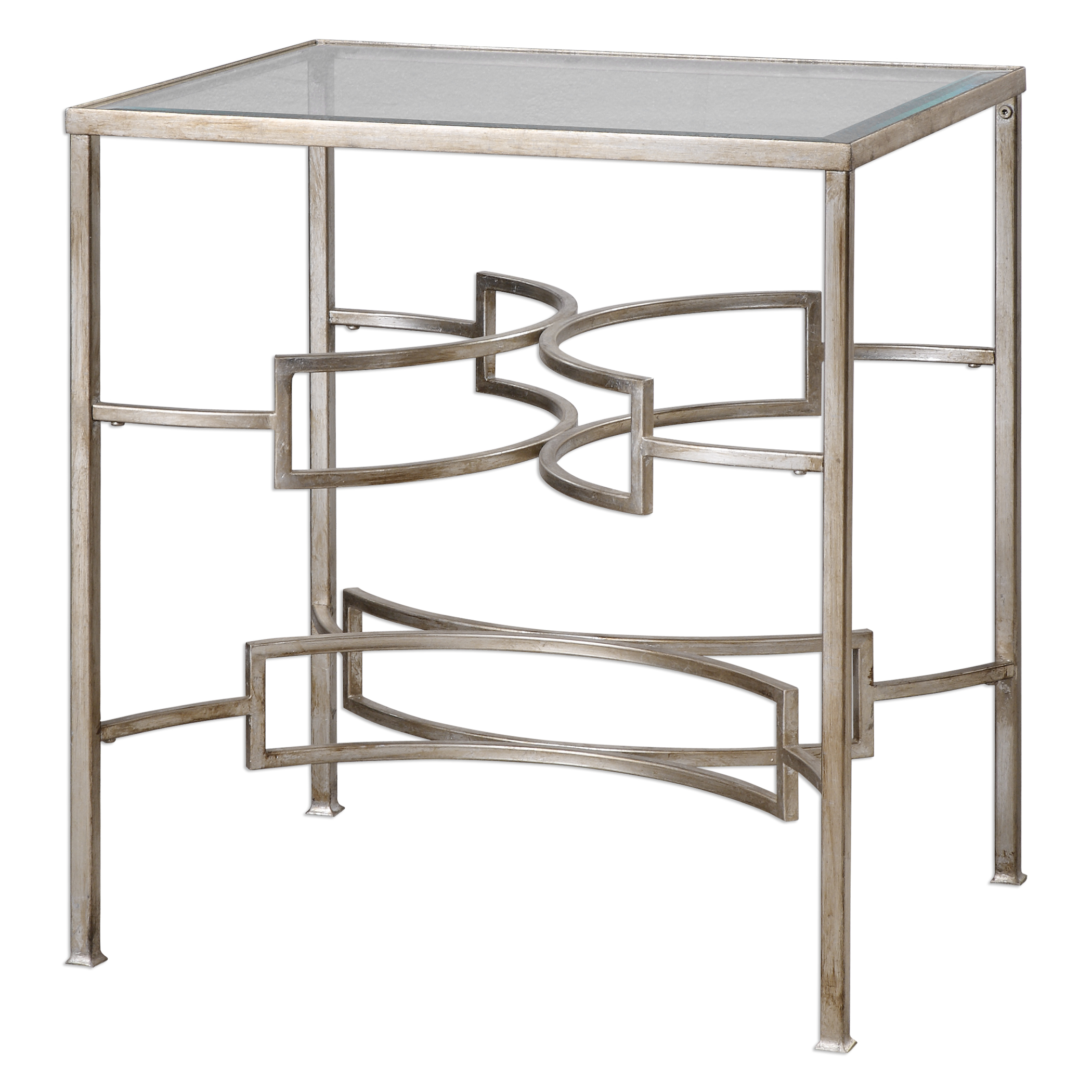 Uttermost Accent Furniture Eilinora Silver End Table - Item Number: 24635