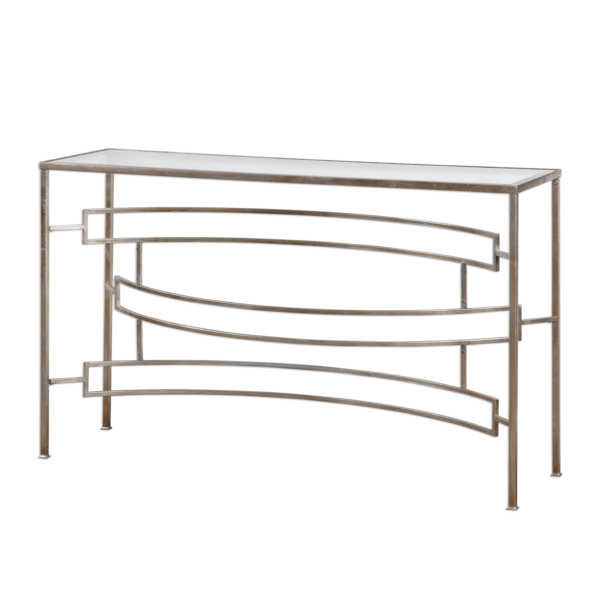 Uttermost Accent Furniture Eilinora Silver Console Table - Item Number: 24636