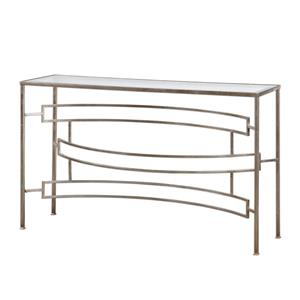 Uttermost Accent Furniture Eilinora Silver Console Table