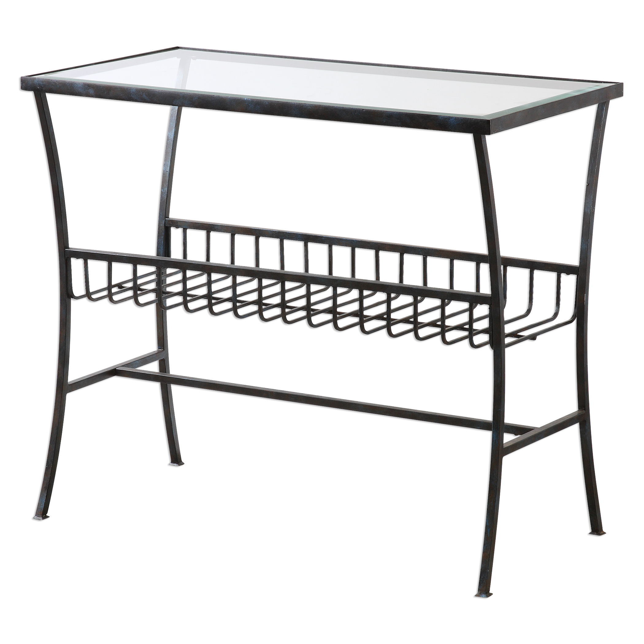 Uttermost Accent Furniture Tito Aged Iron Magazine Table - Item Number: 24638
