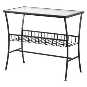Uttermost Accent Furniture Tito Aged Iron Magazine Table
