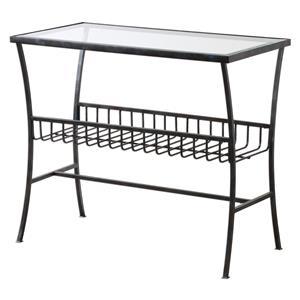 Uttermost Accent Furniture Tito Aged Iron Magazine Table