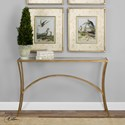 Uttermost Accent Furniture Alayna Gold Console Table