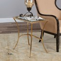 Uttermost Accent Furniture Alayna Gold End Table