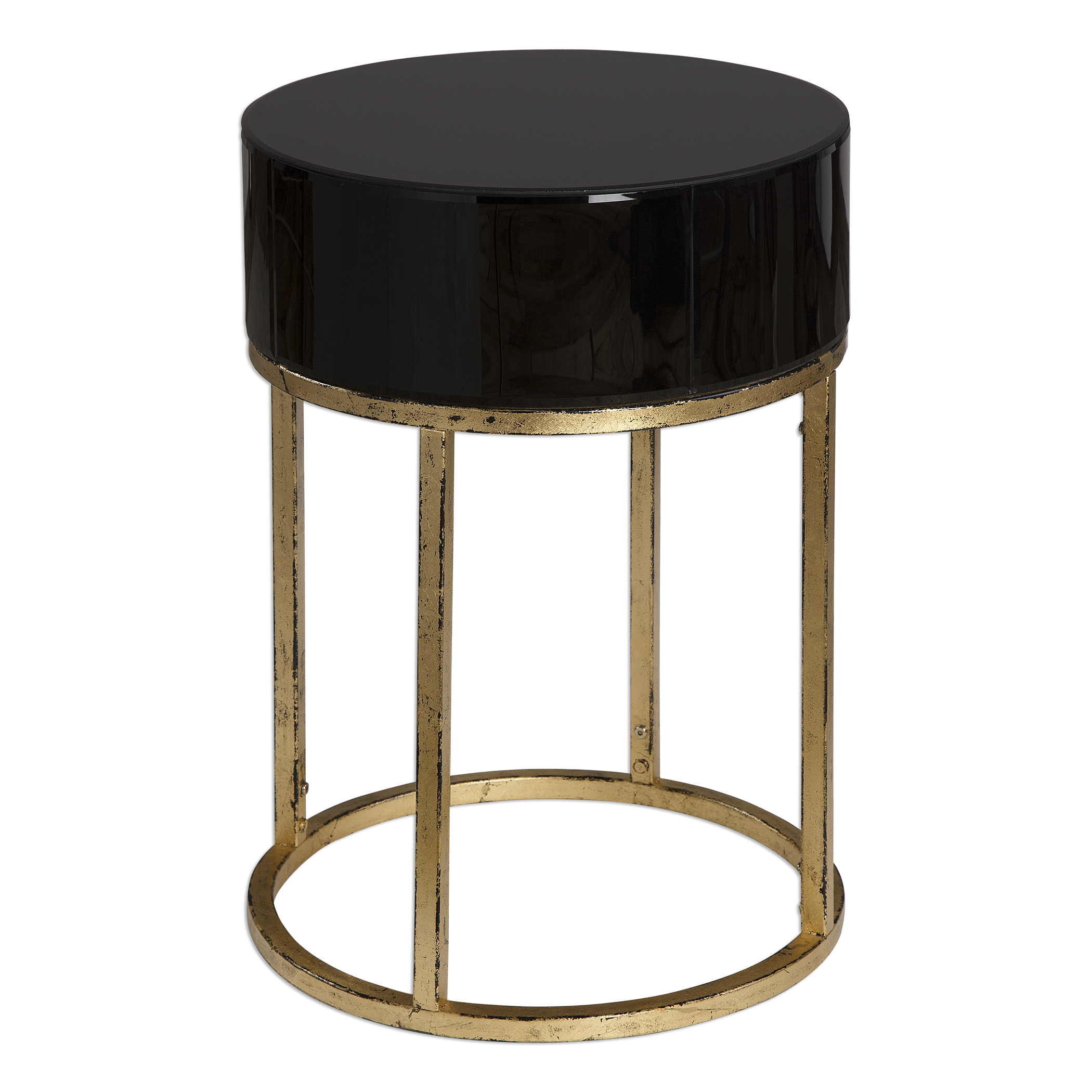 Uttermost Accent Furniture Myles Curved Black Accent Table - Item Number: 24642