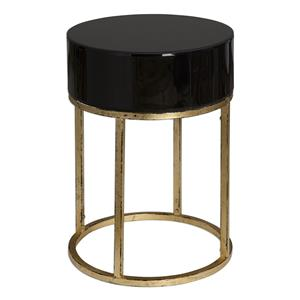 Uttermost Accent Furniture Myles Curved Black Accent Table