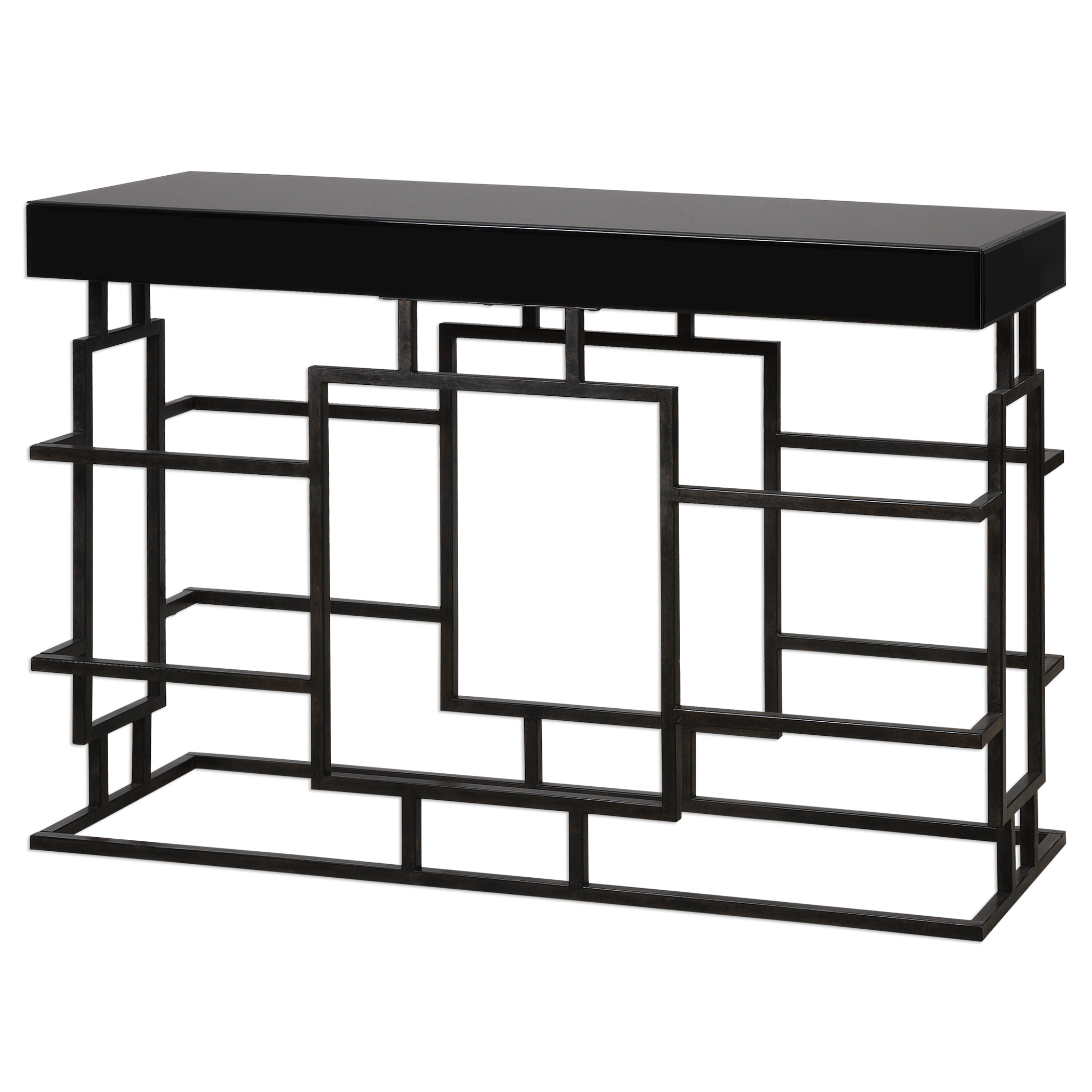 Uttermost Accent Furniture Andy Black Console Table - Item Number: 24643