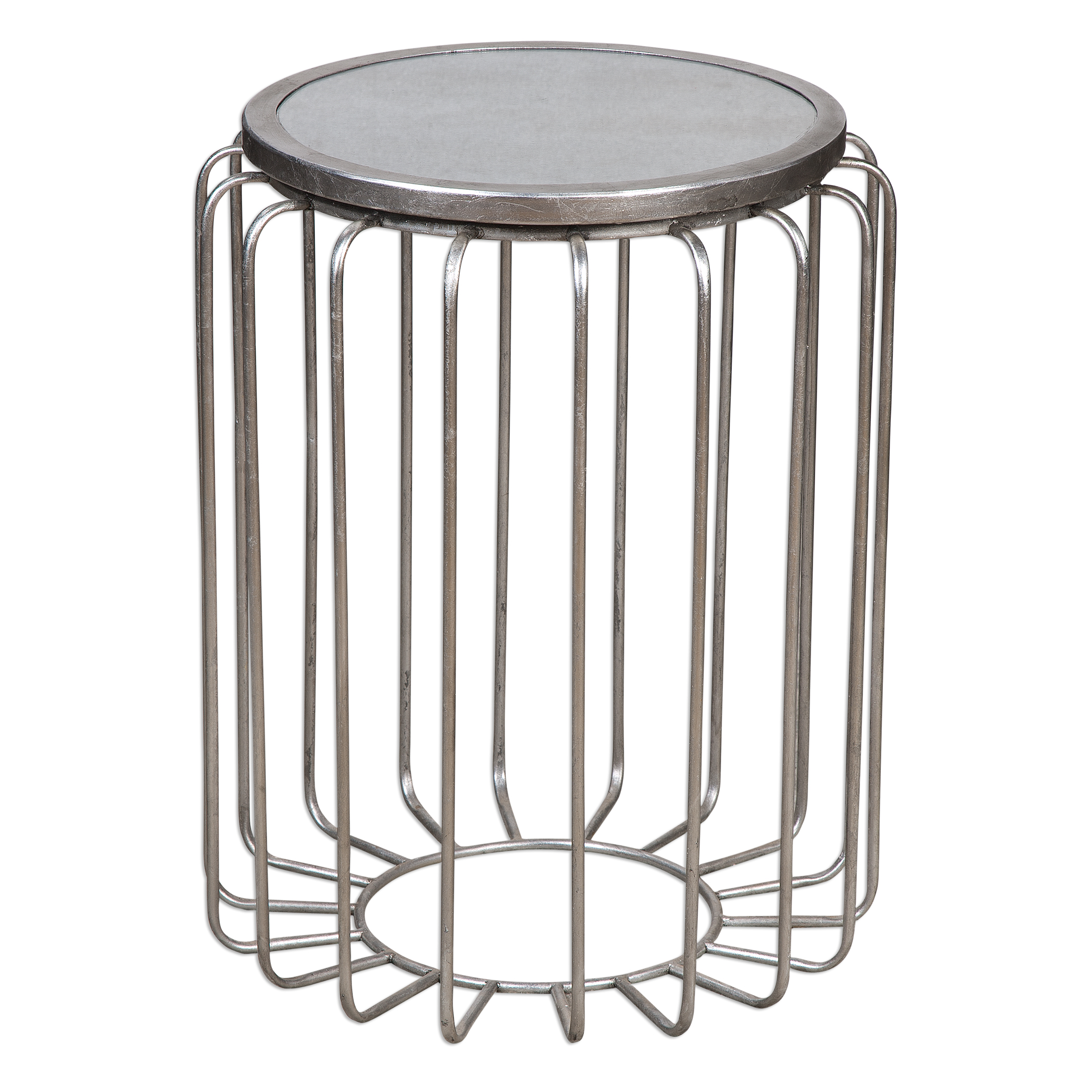 Uttermost Accent Furniture Valerio Antiqued Silver Accent Table - Item Number: 24655