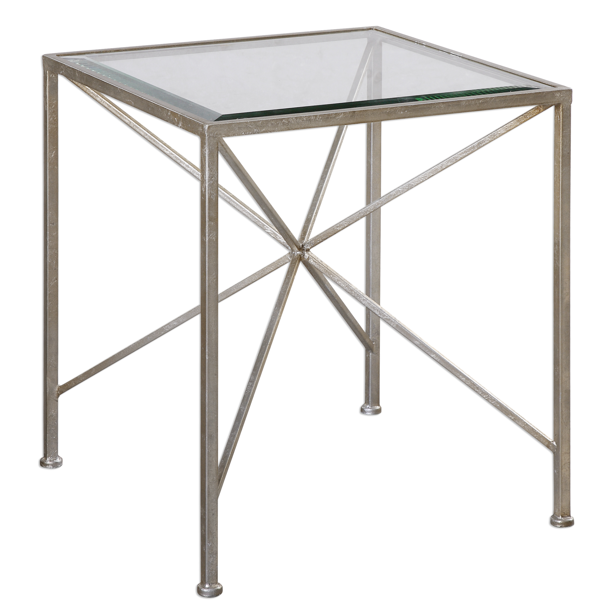 Uttermost Accent Furniture Silvana Antiqued Silver Cube Table - Item Number: 24656