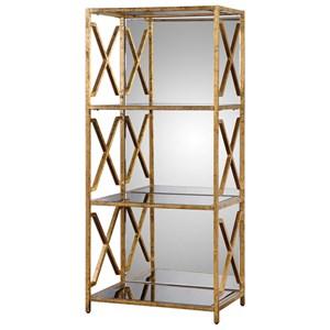 Uttermost Accent Furniture Deedra Mirrored Etagere