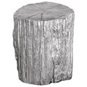 Uttermost Accent Furniture  Cambium Silver Tree Stump Stool - Item Number: 24663