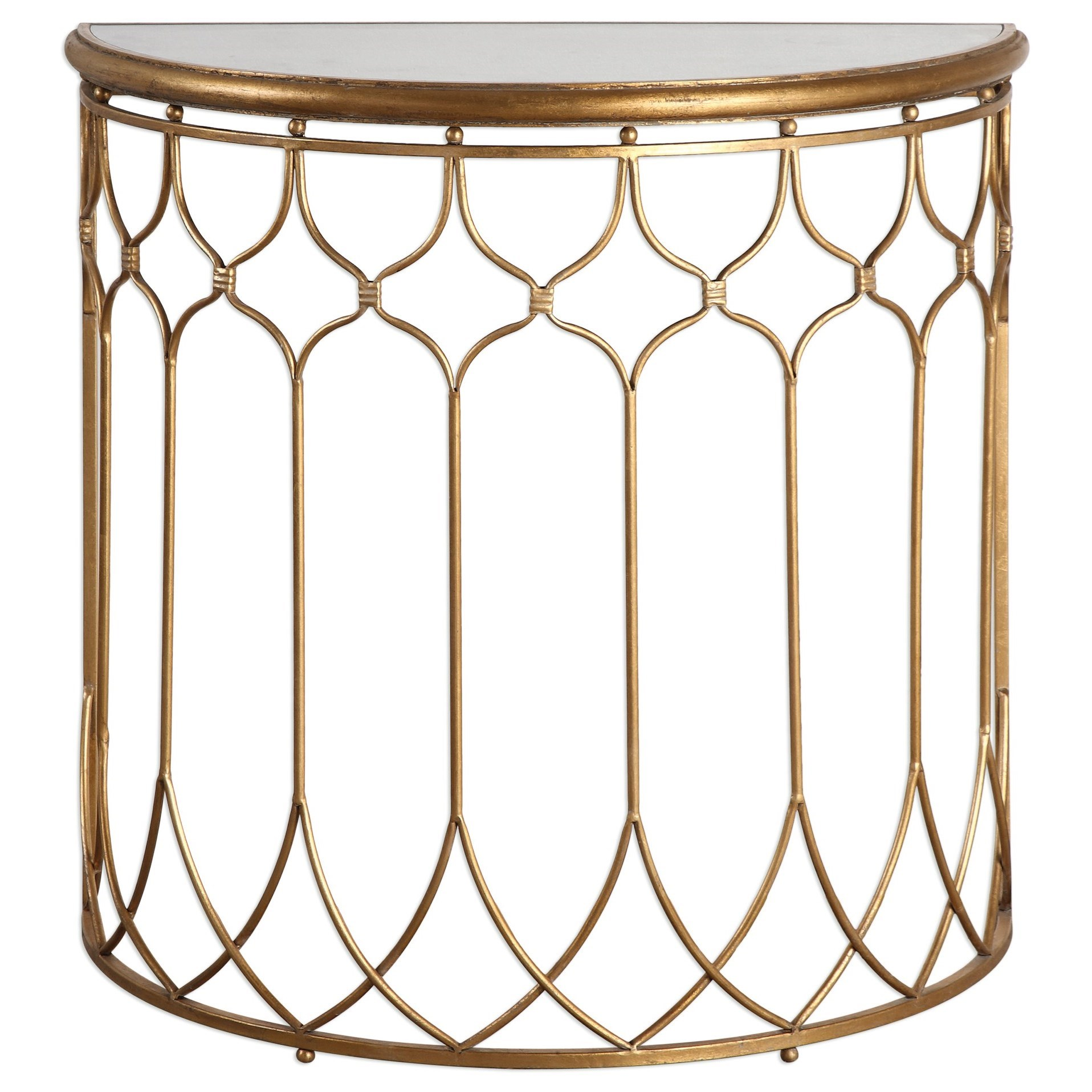 Uttermost Accent Furniture  Floressa Gold Console Table - Item Number: 24664
