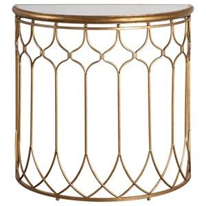 Uttermost Accent Furniture  Floressa Gold Console Table