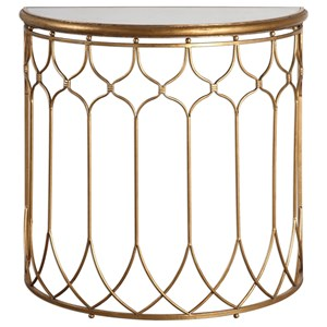 Uttermost Accent Furniture  Floressa Gold Console Table