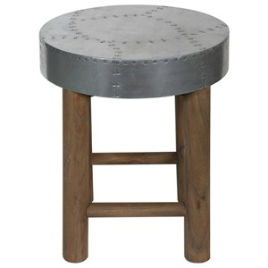 Uttermost Accent Furniture Jace Industrial Aluminum Stool