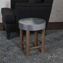 Uttermost Accent Furniture Jace Industrial Aluminum Stool