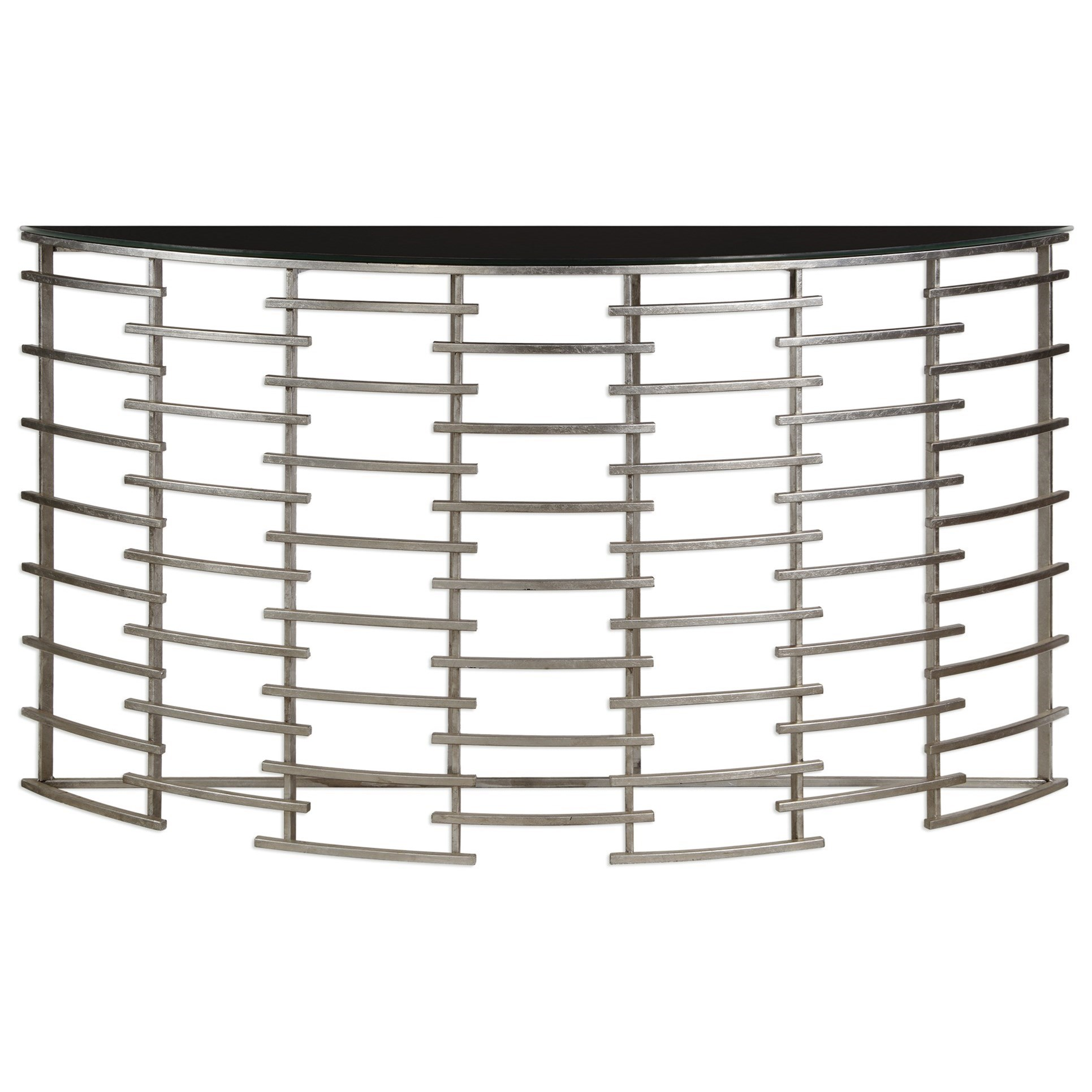 Uttermost Accent Furniture  Zeetah Silver Console Table - Item Number: 24679