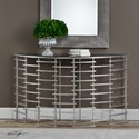 Uttermost Accent Furniture  Zeetah Silver Console Table
