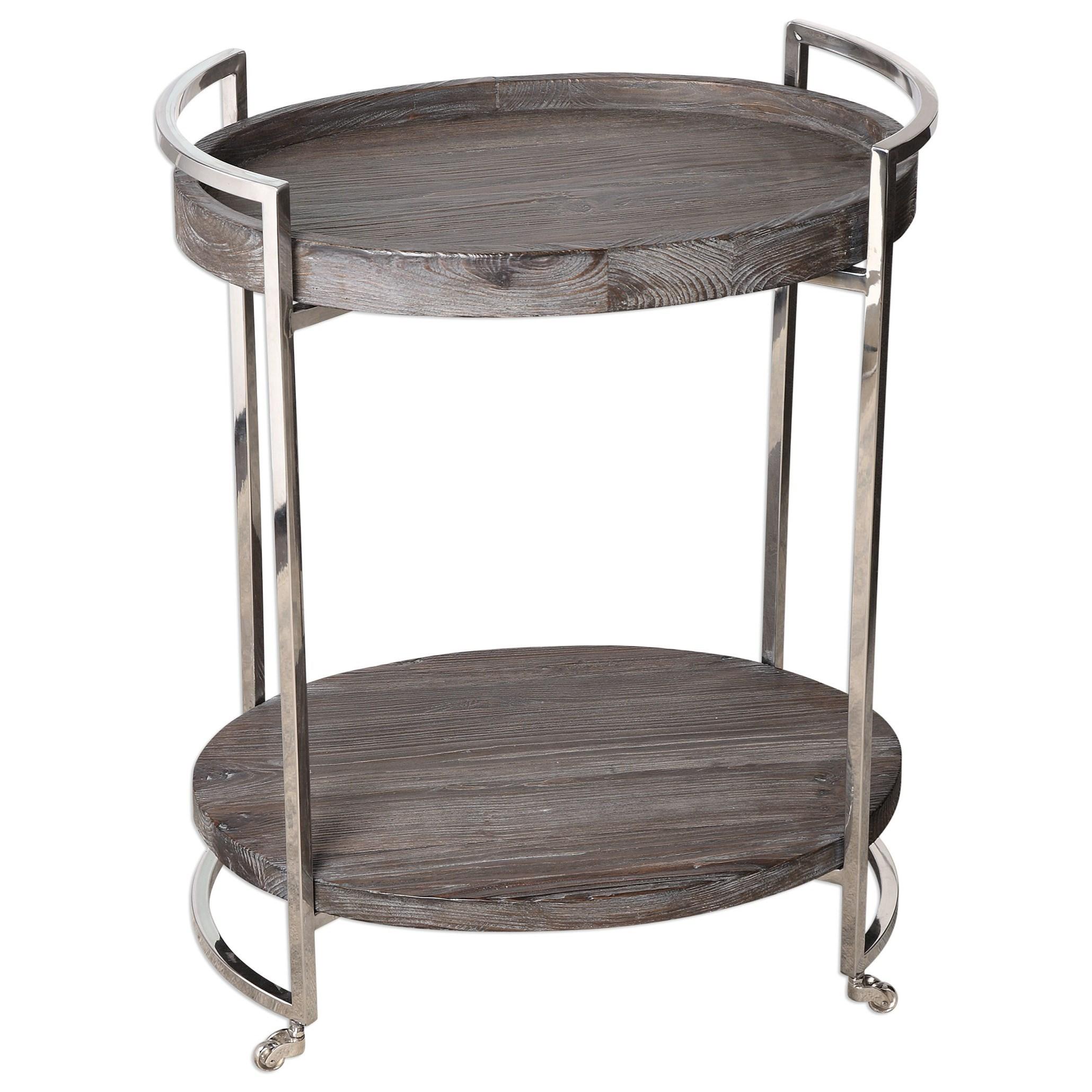 Uttermost Accent Furniture  Colin Wooden Serving Cart - Item Number: 24683